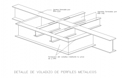 Cantilever beam detail cad drawing
