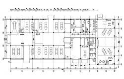 Car Showroom Planning AutoCAD File