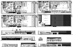Car Showroom Project DWG File