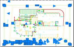 Car dealership plan detail dwg file.