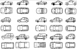Car elevation detail dwg file