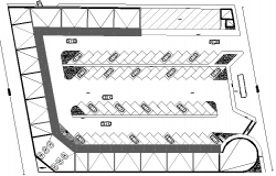 Car parking lot layout of residential flats dwg file