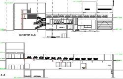 Car parking lot sectional details of shopping center project dwg file