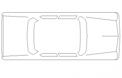Car top view cad block design dwg file
