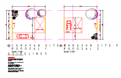 Caravan Stands section detail design drawing
