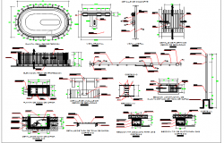 Cargo gas station architecture project details dwg file