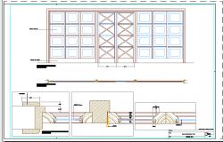 Carpentry detail of Door window design drawing