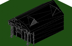Casita 3 D plan autocad file