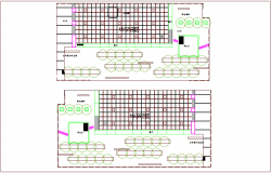 Casual cafe plan dwg file