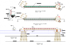 Cat walk section detail dwg file