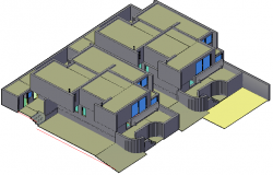 Category house in 3 D detail dwg file