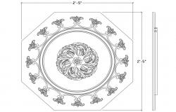 Ceiling Design CAD Drawing