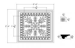 Ceiling Design DWG File