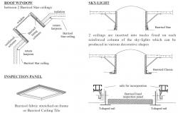 Ceiling barrisol and interior cad drawing details dwg file
