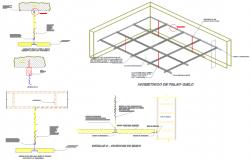 Ceiling design in 3d format dwg file