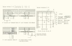 Ceiling elevation and detail view with structure view dwg file