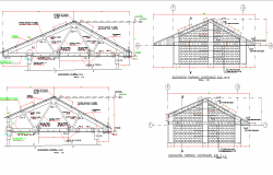 Ceiling elevation and details dwg file