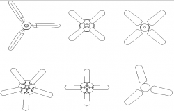 Ceiling fans detail dwg file