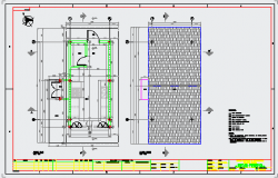 Ceiling layout of kitchen design drawing