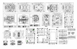 Ceiling of office building detail layout DWG file