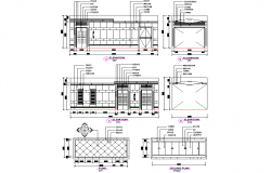 Ceiling plan and section detail dwg file
