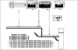 Ceiling plan design view of shopping area dwg file