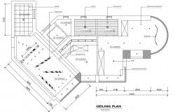 Ceiling plan details of bedroom cad drawing details dwg file
