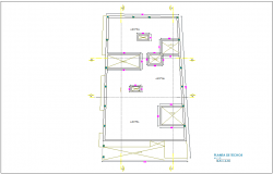 Ceiling plan for house with architectural view dwg file