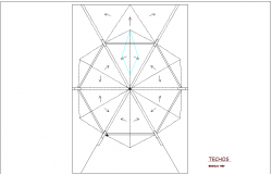 Ceiling plan of corporate office dwg file