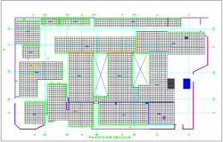 Ceiling plan of hospital dwg file