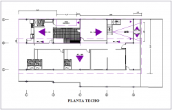 Ceiling plan of housing building dwg file
