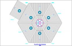 Ceiling plan of school dwg file