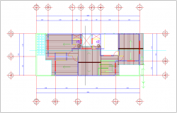 Ceiling plan with architectural view of residential area dwg file