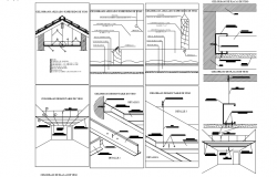 Ceiling steel structure view dwg file