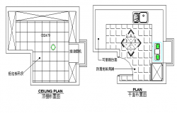 Ceiling top view layout plan