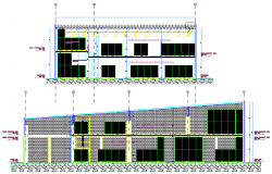 Cellar plan and section detail dwg file