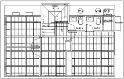 Celler plan detail dwg file