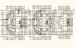 Center line Commercial working plan detail dwg file