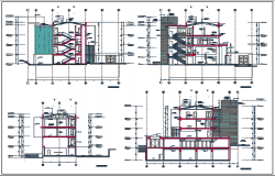 Center line elevation plan detail dwg file