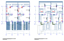 Center line house plan autocad file