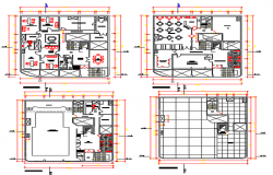 Center line office plan detail dwg file