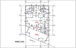 Center line plan in plan detail dwg file