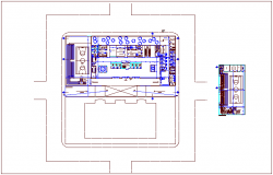Center of communal participation office plan dwg file