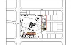 Center of communal participation plan detail dwg file