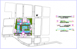 Centralized pediatric hospital design view with landscape and elevation view dwg file