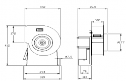 Centrifugal extractor fence architecture project dwg file