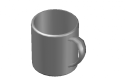 Ceramic mug elevation 3d