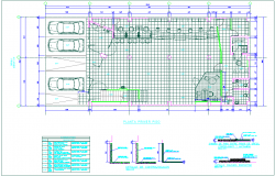 Ceramic view in first floor plan of banking agency dwg file