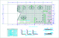 Ceramic view of second floor plan for banking agency dwg file