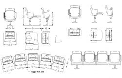 Chair Blocks dwg file